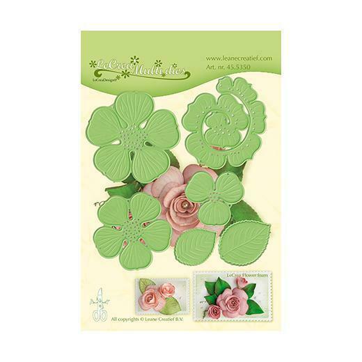 Set da 6 FUSTELLE rosa 3D die compatibili con Big Shot Rose 3D fiore fiori fu 293576378881