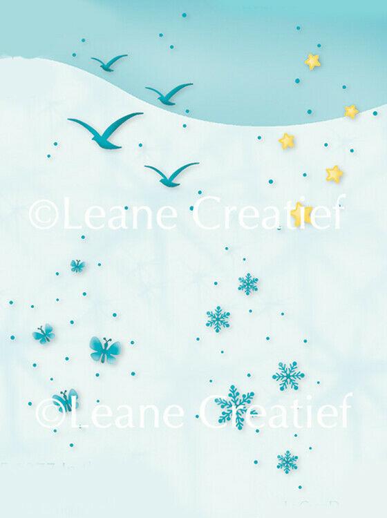 Set di 4 TIMBRI gabbiani stelle fiocchi di neve farfalle timbro clear stamp I 303104664111