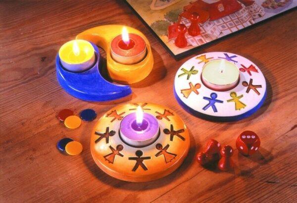 Stampo con forme portacandela yin yang fratellanza MOLDS per gesso ceramico 292315964901
