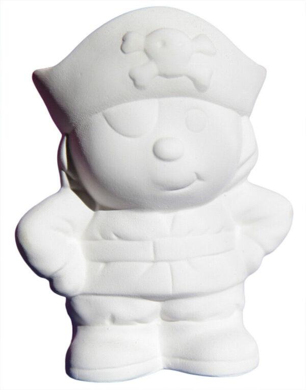 Statuina in ceramica biscotto bianco pirata Jolly Roger da dipingere decorare 293573774791