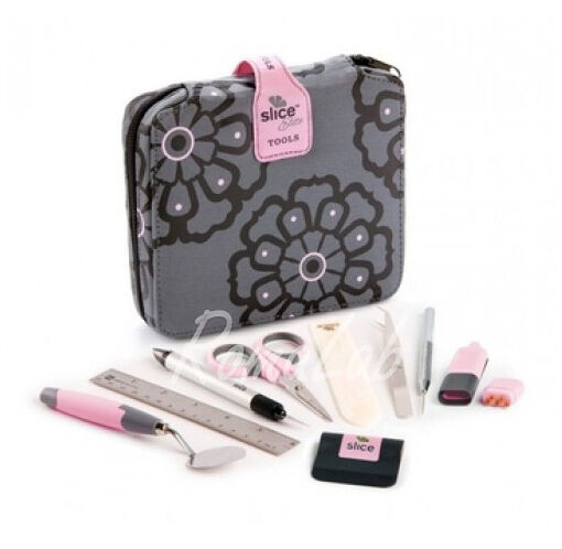 TOOL KIT SLICE ELITE rosa ACCESSORI SCRAPBOOKING 15 PEZZI 302002242931