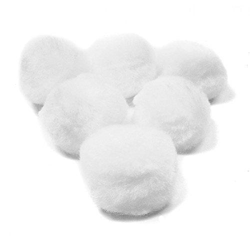 15 pom pom 25 mm ponpon bianchi SCRAPBOOKING DECORAZIONI applicazioni BOMBONIERE B0772CVX14