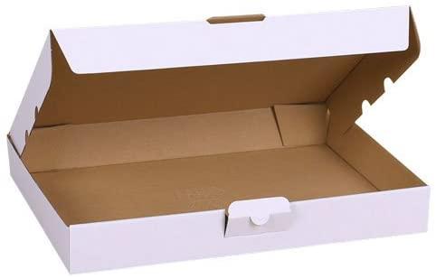 2 scatole DI CARTONE fustellate BIANCHE 343x245x47 cm per spedizioni imballaggio B079KX64V3