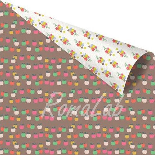 1 FOGLIO DI CARTA Yuki Collection by Ruby Violet Apple Seed 30 cm SCRAP scrap 302002291132