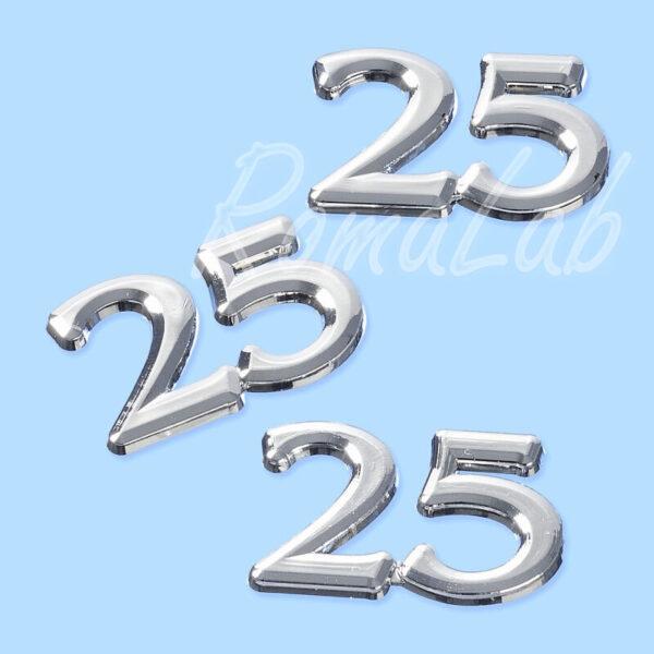 1 decorazione in plastica colore silver nozze dargento SCRAPBOOKING DECORAZIONI 302053982112