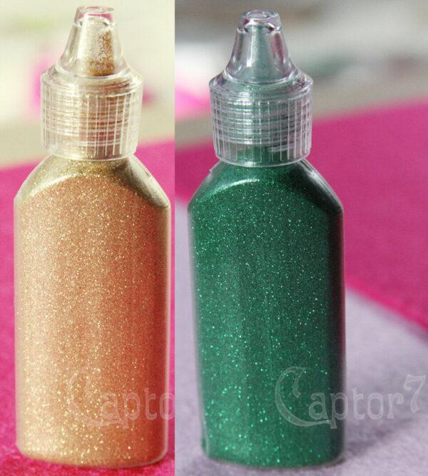 2 FLACONI DA 12 GR DI POLVERE GLITTER extra fine color oro e verde brillantin 302003056862