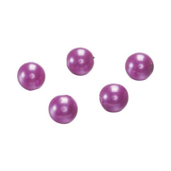 50 perle in plastica di colore fucsia fuxia 10 mm con foro Beads fuchsia perl 303081727532