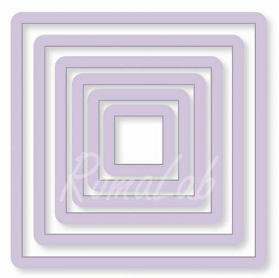 6 FUSTELLE quadrati SET compatibili con Big Shot vari diametri square punch 302874756822