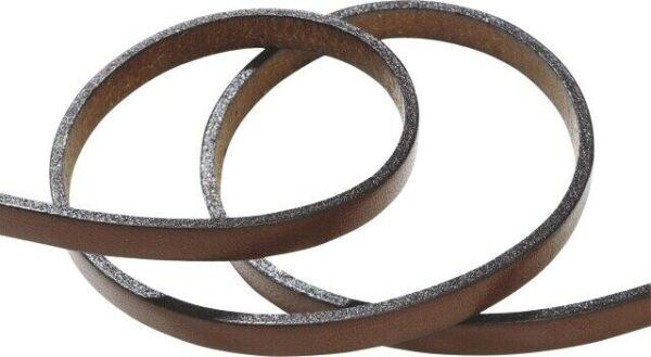 80 cm LACCETTO pelle marrone 5x2 mm cuoio naturale laccio per gioielli top di 292952767352