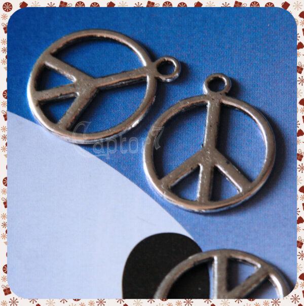 9 CHARMS PACE CIONDOLO PENDENTE PEACE LOVE PICCOLI 2 CM X COLLANE BRACCIALE 301747816392