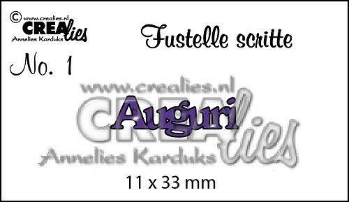 FUSTELLA Crealies scritta AUGURI compatibile con Big Shot scrapbooking 302632115052