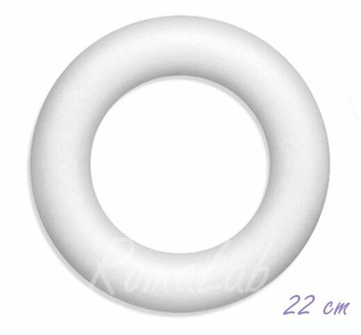 Ghirlanda 22 CM IN POLISTIROLO DA DECORARE NATALE X PATCHWORK DECOUPAGE anello 301996930882