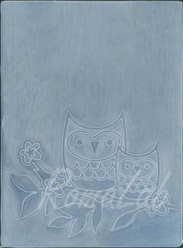 MASCHERINA Embossing FOLDER gufi su ramo gufetti rilievo per BIG SHOT Cuttlebug 291739636442