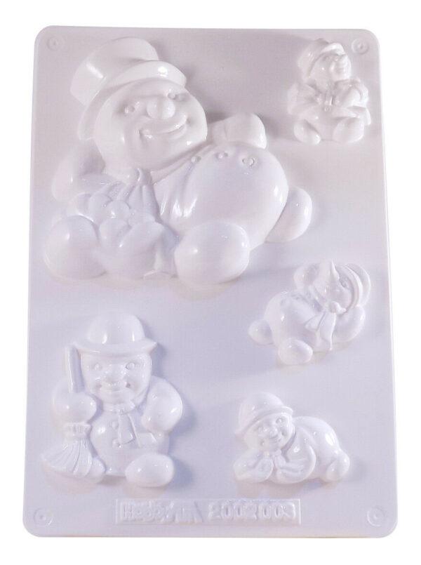 STAMPO con 5 FORMINE di pupazzo di neve decorare colate gesso ceramico 302479206922