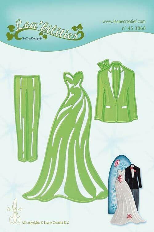 Set da 3 FUSTELLE Fustella abiti da cerimonia nozze dies compatibili con Big 293001741662