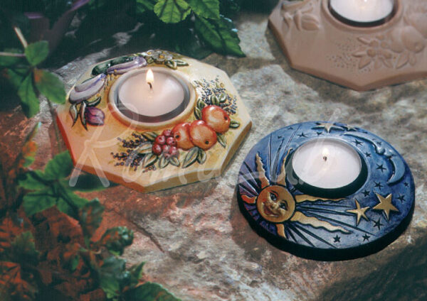 Stampo con 2 FORME PORTACANDELA FORMINE MOLDS per colate di gesso ceramico 302002137792