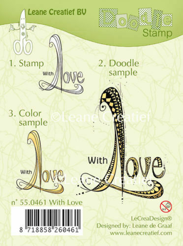 TIMBRO scritta WITH LOVE con amore clear stamp timbri amore scrapbooking DOODLE 303126501432