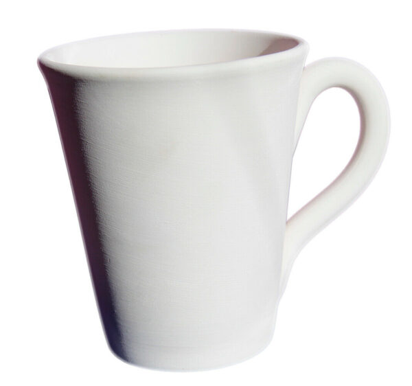 Tazza grande mug in ceramica biscotto bianco da dipingere decorare 10 cm cera 303562474052