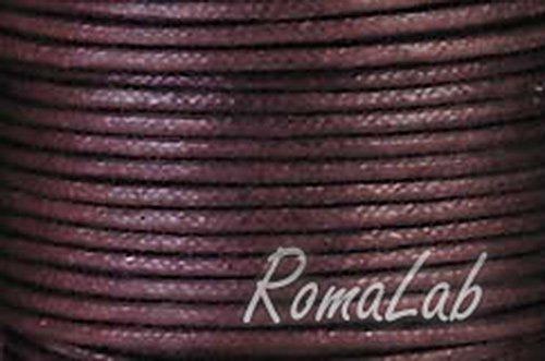 25 MT FILO COTONE CERATO MARRONE CORDONCINO 2 mm rocchetto bobina cordino B0023T4X7C
