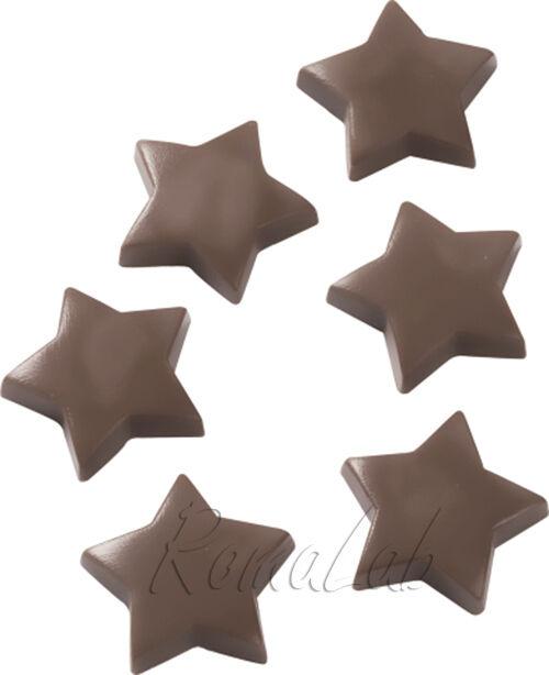 1 STAMPO CON 6 stelle FORME stelline FORMINE gesso cioccolata 302007395883