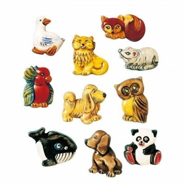 10 STAMPI animali KNORR PRANDELL FORMINE MOLDS volpe oche cani gufi pappagallo 302106168773