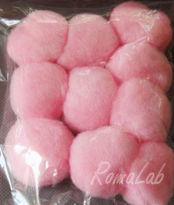 10 pom pom 38 mm ponpon rosa SCRAPBOOKING DECORAZIONI applicazioni BOMBONIERE 292536366903