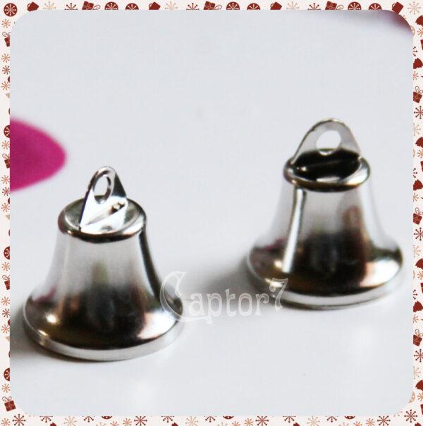 12 CAMPANELLE mini 17X20 MM campanelline campanellini COLOR PLATINO BOMBONIERE 302002173343