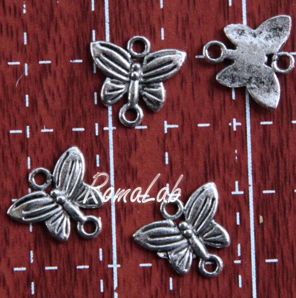 16 LINK 2 FORI a forma di farfalle BASI PER ORECCHINI CIONDOLI CANDELIERI links 291804302173