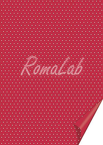 20 FOGLI in cartoncino color rosso A4 stampato a pois bianchi x SCRAPBOOKING 291789732113