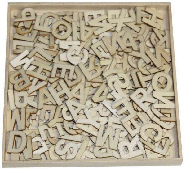 250 DECORAZIONI IN LEGNO 12 cm lettere dellalfabeto ORNAMENTI SCRAPBOOKING 302548079373