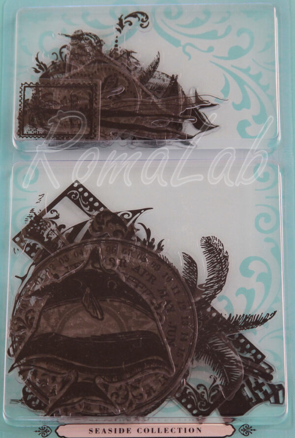 37 DECORAZIONI VITTORIANE GLIMMER GLASS PER ALBUM SCRAPBOOKING TATTERED ANGEL 302002204313