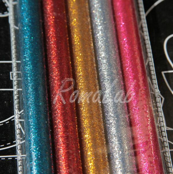 5 STICK DI COLLA PER PISTOLA A CALDO DIAMETRO 11 MM HOT GLUE glitter glitterata 302656802783