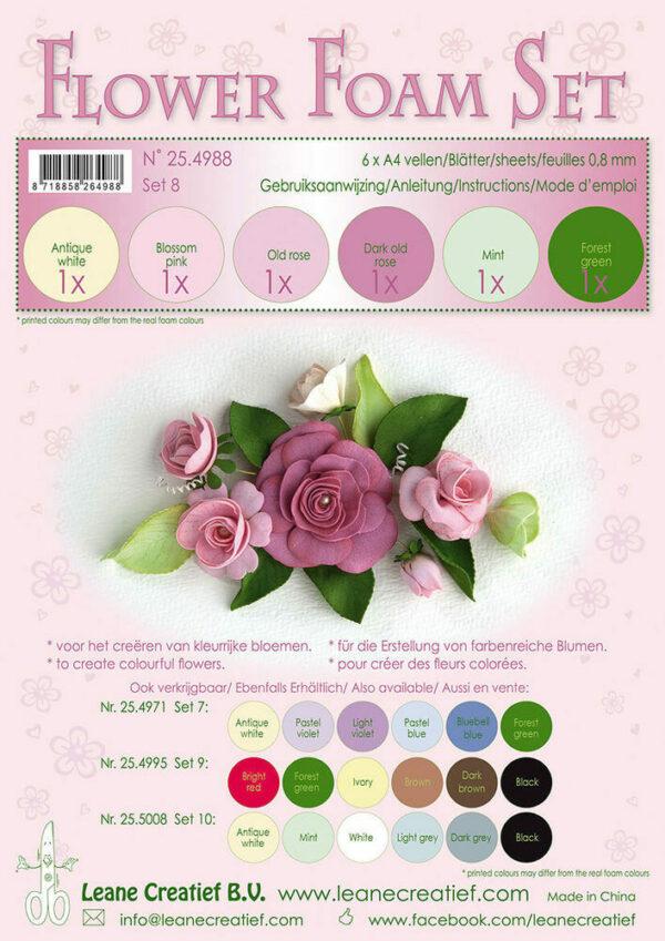 6 FOGLI di foamiran A4 gradazioni del rosa SPESSORE 08 mm MOOSGUMMI x fiori 303564661853