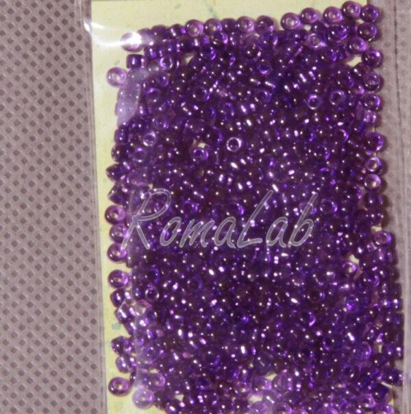 6 GRAMMI ROCAILLES VETRO 10 0 22 MM color porpora per embroidery incastonare 301791740943