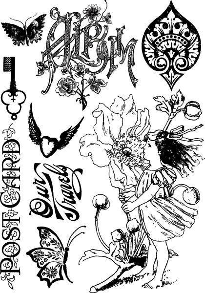 9 TIMBRI IN GOMMA by Jodie Lee SCRITTA ALBUM BAMBINA ELFA FARFALLA SCRAPBOOKING 300948405083