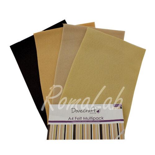 Confezione 8 fogli di feltro A4 in mix Dovecraft multipack toni naturali 292161572353