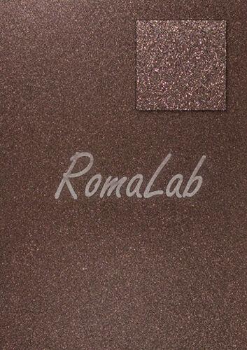 Foglio A4 carta glitter color caffe moka CARD SCRAPBOOKING cartoncino glitterato 291911317143