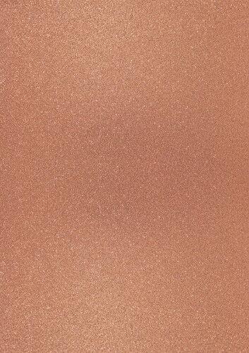 Foglio A4 di carta glitter colore rame scuro CARD SCRAPBOOKING cartoncino gli 302625269993