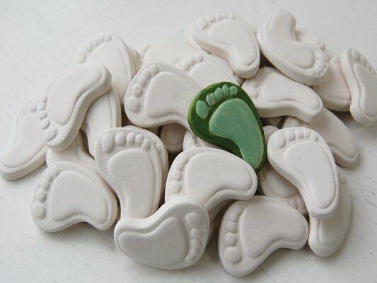 Piede destro in ceramica biscotto bianco da dipingere decorare bisque decoraz 303564181853