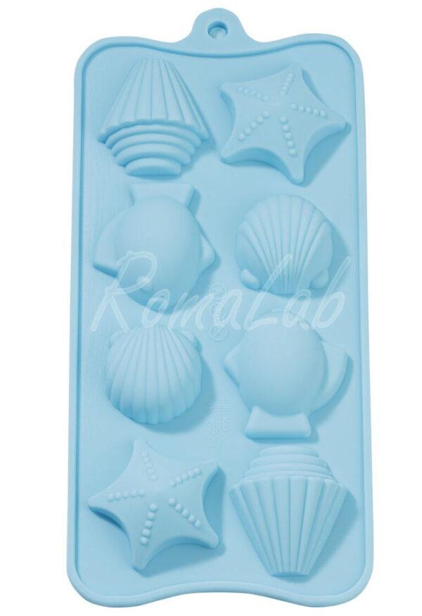 STAMPO IN SILICONE a tema marinaro marittimo pesce stella x gessi uso alimentare 302011402633