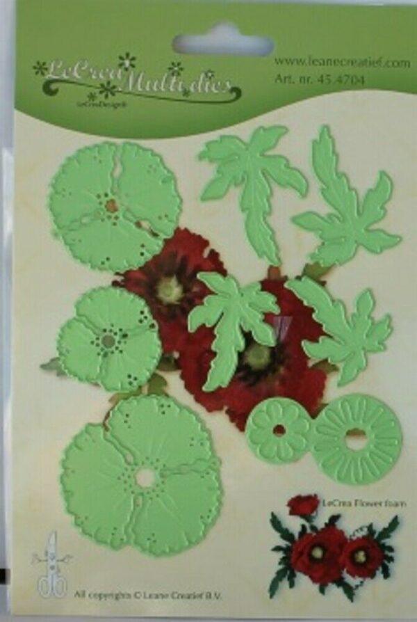 Set da 8 FUSTELLE papavero 3D die compatibili con Big Shot fiore fiori fustel 293576421683