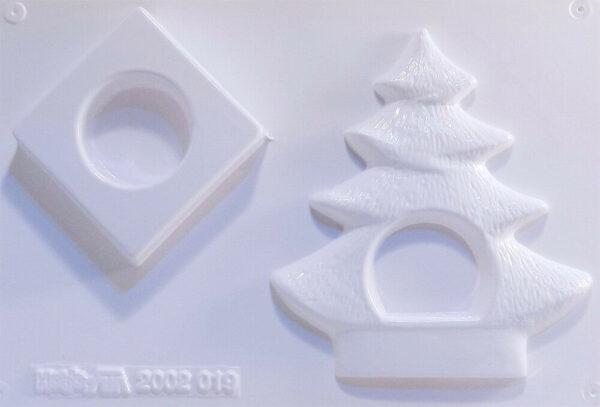 Stampo 3D ABETE PORTACANDELA diorama natalizio x colate gesso ceramico 302741771433