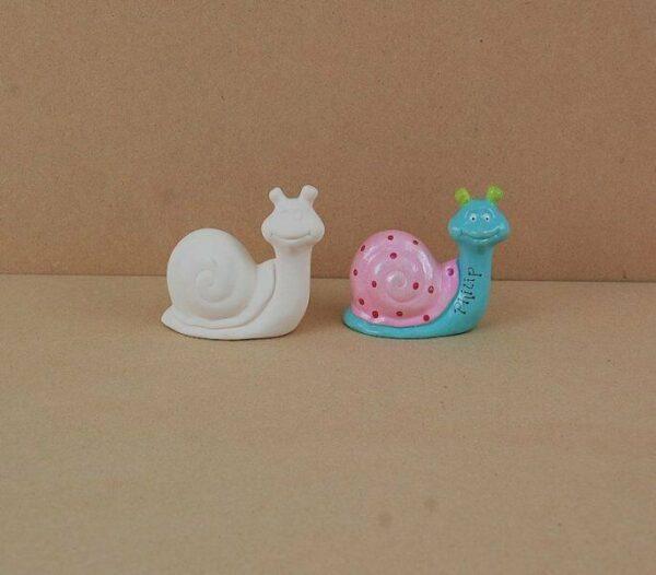 Statuina in ceramica biscotto bianco lumaca da dipingere decorare bisque Snai 303564279873