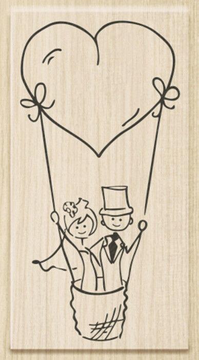 TIMBRO con BASE in LEGNO STAMP coppia di sposi matrimonio TIMBRI x SCRAPBOOKING 302488897923