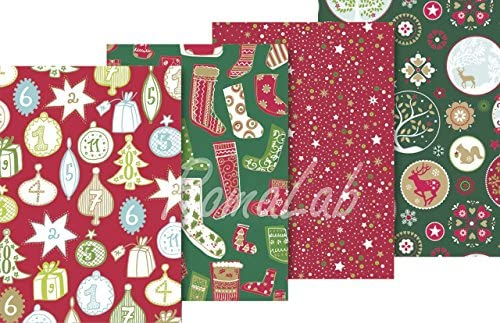 4 rotoli di carta regalo stampata 70 x 200 cm mix a tema natalizio NATALE PAPER B0745W3BTR