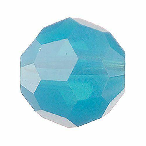 10 CRISTALLI ORIGINALI SWAROVSKI ROUND TONDO 4 MM caribbean blu 303022432984