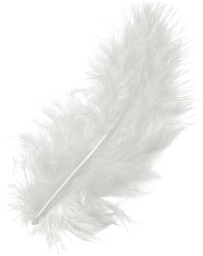 15 piume MARABU color bianco stile etnico burlesque penne piuma 10 cm bianche 302625359714