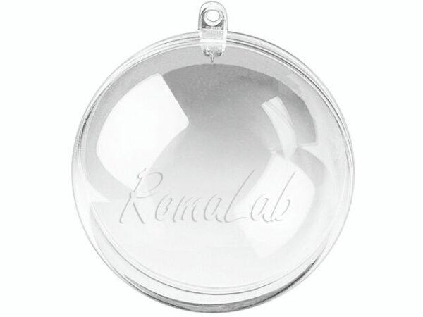 2 sfere trasparenti in plexiglass apribili da decorare natale 5 cm palla albero 301994643204