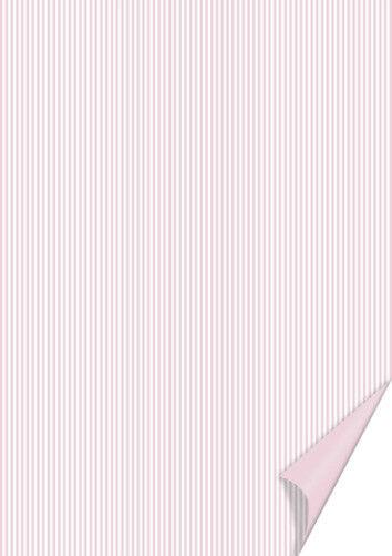 20 FOGLI in cartoncino A4 stampato a righe rosa e bianche x SCRAPBOOKING 292294544804