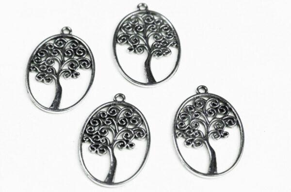3 CHARMS ALBERO DELLA VITA STILIZZATO in argento tibetano charm CIONDOLO bijoux 303210055814